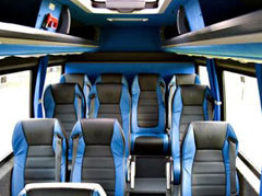 The Interior of our Mercedes Sprinter